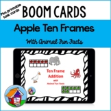 Ten Frame Addition Task Cards with BOOM Card Option