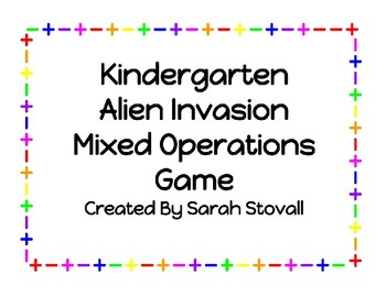Kindergarten Alien Invasion Mixed Operations Game