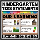 Kindergarten TEKS Can and Will Standards Statements Bundle