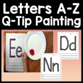 Letter Activities for Kindergarten with Q-Tip Painting {26 Pages A-Z!}