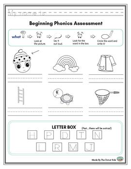 Kindergarten Alphabet Assessment