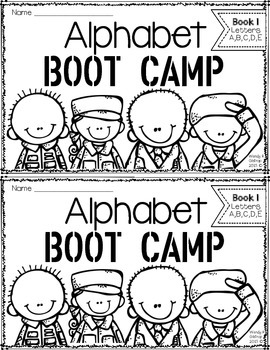 Kindergarten Alphabet Boot Camp Book FREEBIE