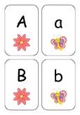 Kindergarten Alphabet Butterfly Matching Cards