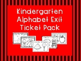 Kindergarten Alphabet Exit Ticket Pack