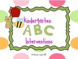Kindergarten Alphabet Interventions