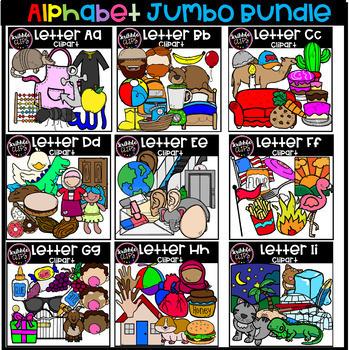 Kindergarten Alphabet Jumbo Bundle (Scribble Clips)