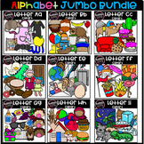Kindergarten Alphabet Jumbo Growing Bundle (Scribble Clips)