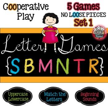 Alphabet Letter Games Word Work SET 1 {5 GAMES}