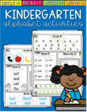Kindergarten Alphabet Morning Work/Center Work