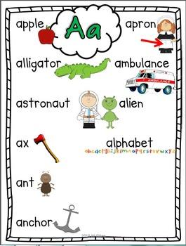 Kindergarten Alphabet Posters