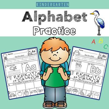 Kindergarten Alphabet Practice Cut and Paste