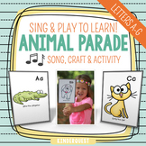 Kindergarten Alphabet Song Animal Parade A-G