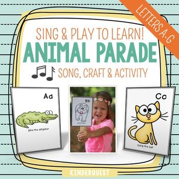 Kindergarten Alphabet Song - Animal Parade A-G