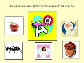 Kindergarten Alphabet Writing Prompts