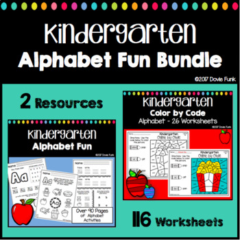 Alphabet Review Coloring Pages Teaching Resources   Teachers Pay ...