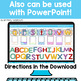 Kindergarten Alphabet and Rhyming Words Digital Activities