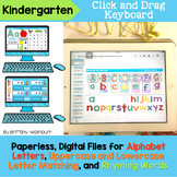 Kindergarten Alphabet and Rhyming Words Digital Activities