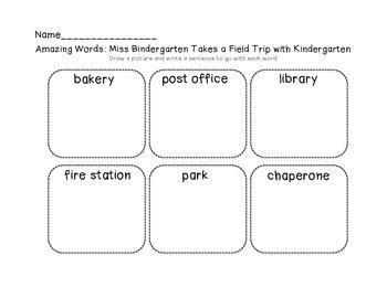 Kindergarten Amazing Words Unit One