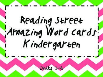 Kindergarten Amazing Words:Reading Street