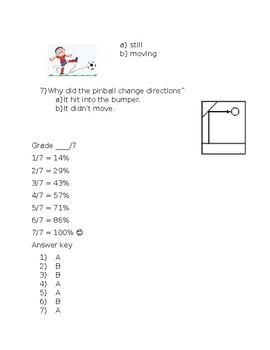 Kindergarten Amplify Science Unit 3, Chapter 4 Test