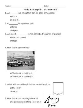 Kindergarten Amplify Unit 3, Chapter 1 Test