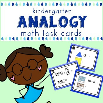 Kindergarten Analogy Math Task Cards