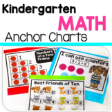 Kindergarten Math Anchor Chart Posters in English & Spanish