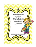 Kindergarten Anchor Charts for Good Coloring (Chevron)