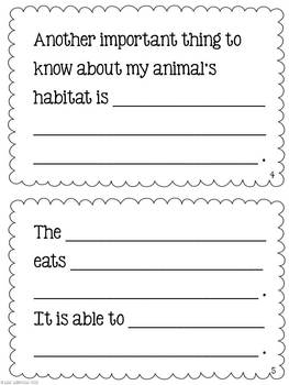 animal book report My animal report name: 1 (write the full name of your animal on this line) when you list a book, include the author's name and the title of the book.