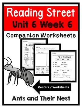 Kindergarten. Ants and Their Nests. Unit 6 Week 6 Reading Street