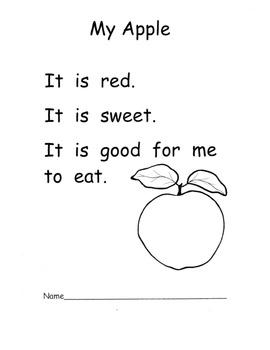 Kindergarten Apple Literacy Unit: Poems Info Text The Apple Pie Tree PLANS 15 pg