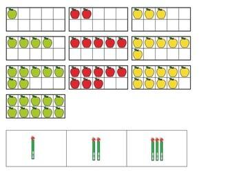 Kindergarten Apple Math Center - Count and Sort