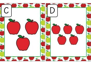 Kindergarten Apple Math Center - Count the Room