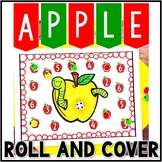 Kindergarten Apple Math Center - Roll and Cover