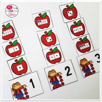 Kindergarten Apple Math Centers
