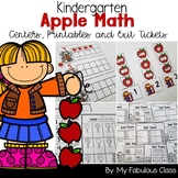 Kindergarten Apple Math Centers