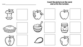 Kindergarten Apple Themed Math and Literacy Activities