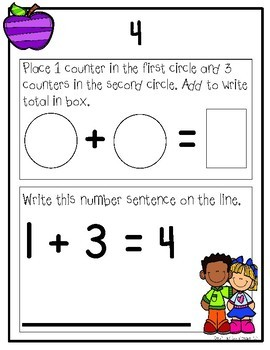 Apple Themed Kindergarten Numbers Bundle