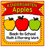 Kindergarten Apples: Math and Morning Work