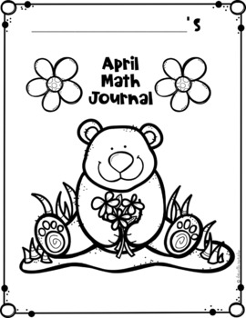 April Kindergarten Daily Spiral Review Math Journal