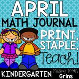 Kindergarten Math Journal | April Spiral Review