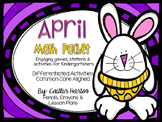 Kindergarten April Math Packet- Stations, Activities, Mini