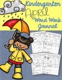 Kindergarten April Word Work Journal