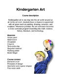 Kindergarten Art Curriculum