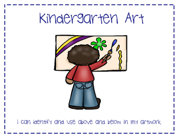 Kindergarten Art Learning Targets Poster Set