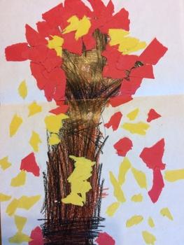 Kindergarten Art Lesson: Autumn Leaves