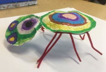 Kindergarten Art Lesson: Kandinsky Spiders