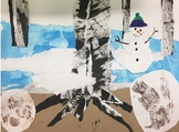 Kindergarten Art Lesson: Over and Under the Snow