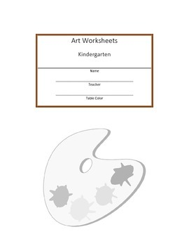 Kindergarten Art Workbook
