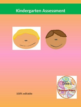 Kindergarten Assessment 1